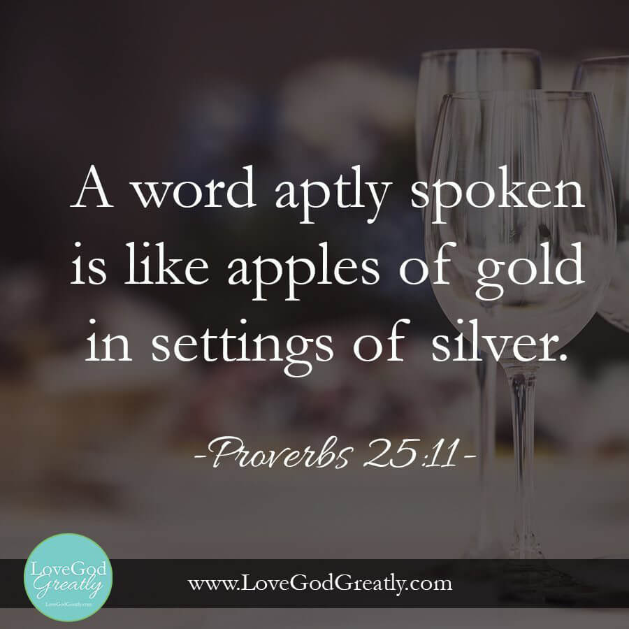 "Esther week 5 memory verse ~ Proverbs  25: 11  ""A word aptly spoken is like apples of gold in settings of silver."""