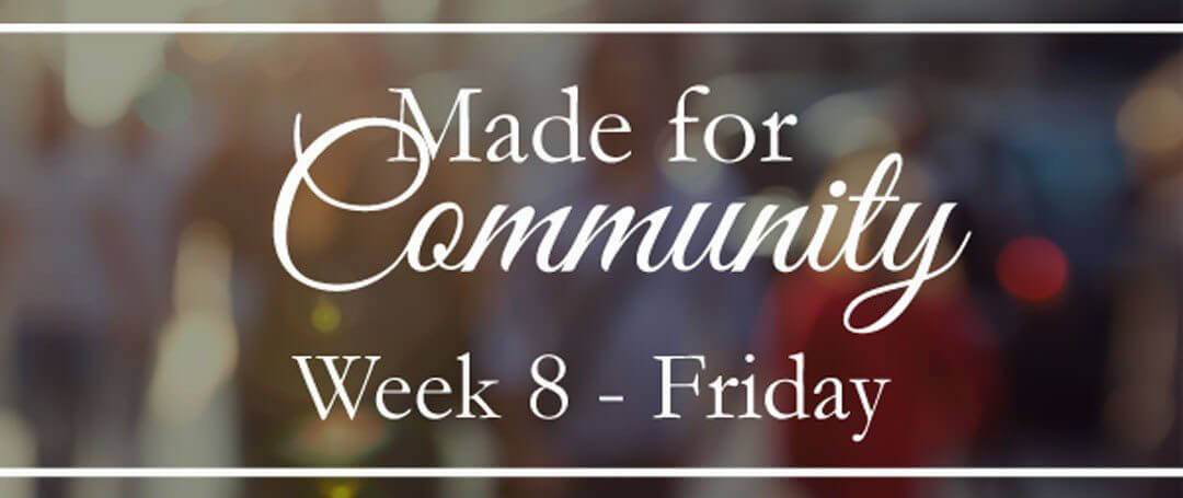 The beauty of community…
