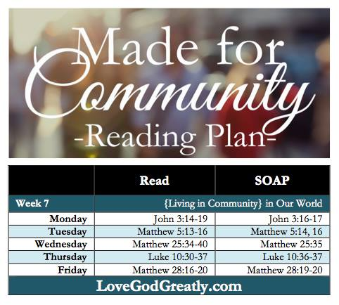 Love God Greatly Weekly Reading Plan