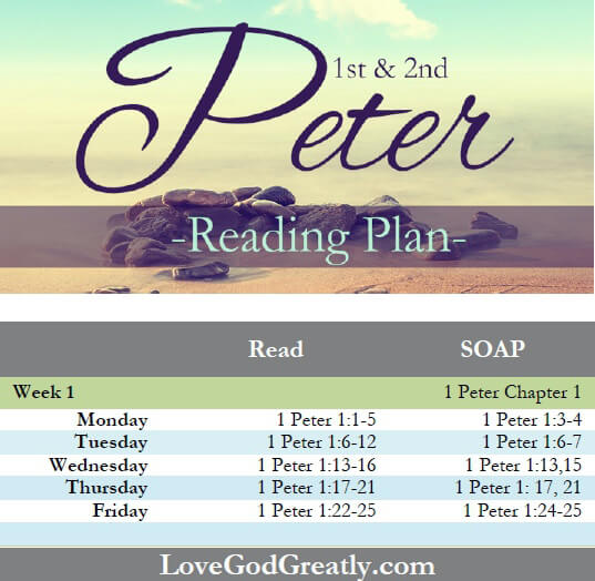 Love God Greatly: Reading Plan Wk1