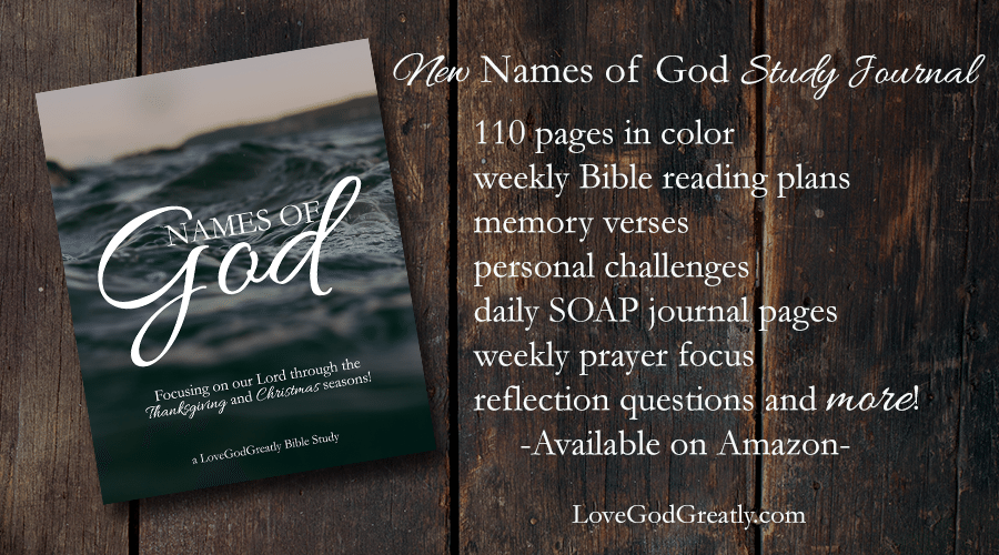 Our brand NEW {Names of God} Study Journal is now on Amazon!