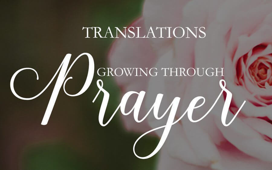 [Growing Through Prayer] is now available in SEVENTEEN Translations!!