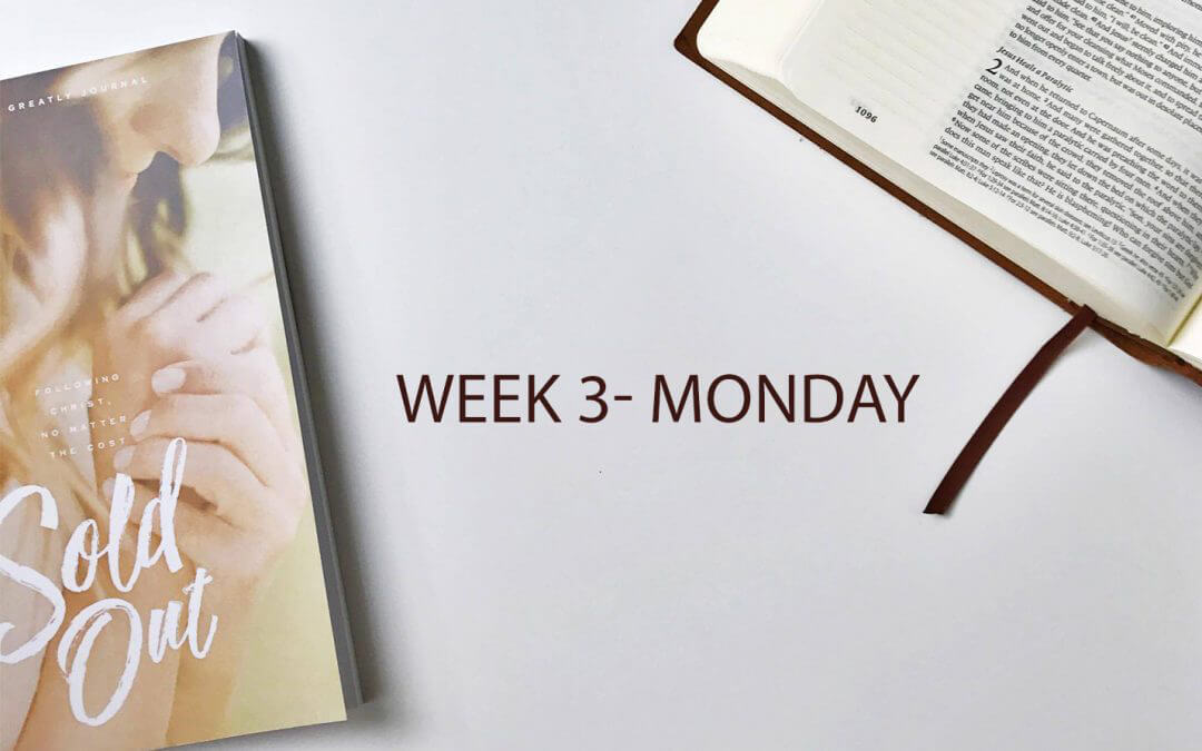(Week 3 Monday) An Unknown Disciple