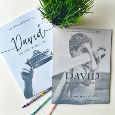 David Study Journal for Kids