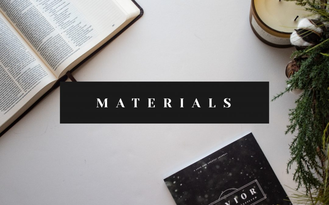 Savior Materials Now Available